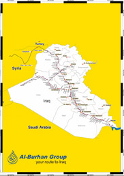 Iraqi Railways Network Map